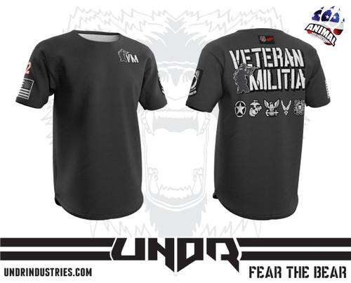 Gray Veteran Militia Tech Shirt
