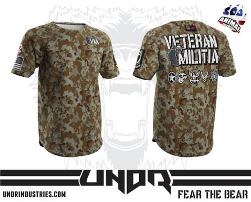 Desert MARPAT Veteran Militia Tech Shirt