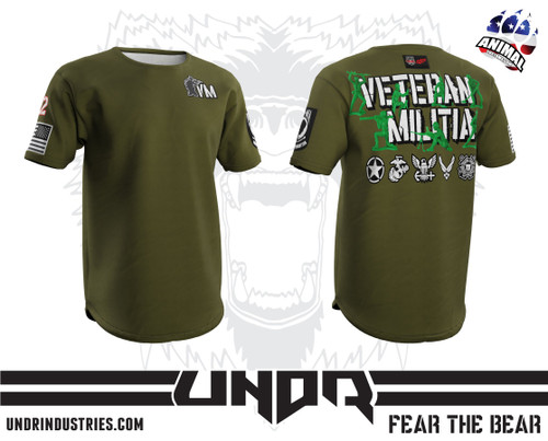Army Men Veteran Militia Tech Shirt