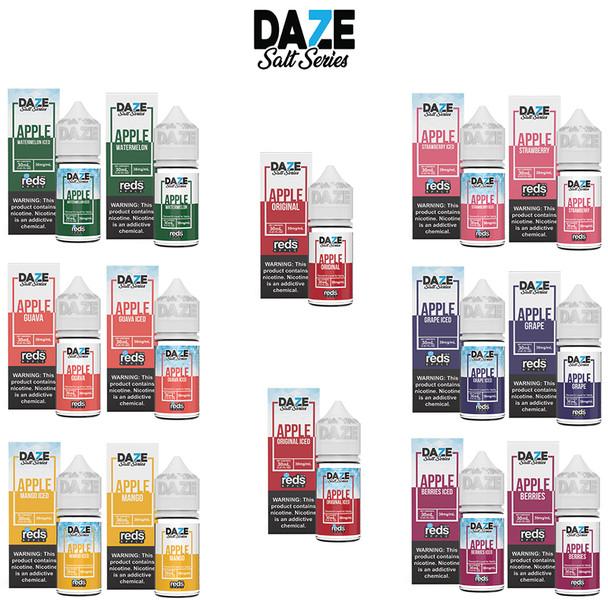 REDS SALT SERIES BY 7 DAZE E-LIQUIDS | ALL FLAVORS | WHOLESALE