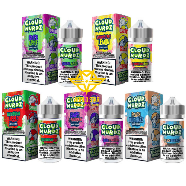 Cloud Nurdz Eliquid Wholesale all flavors