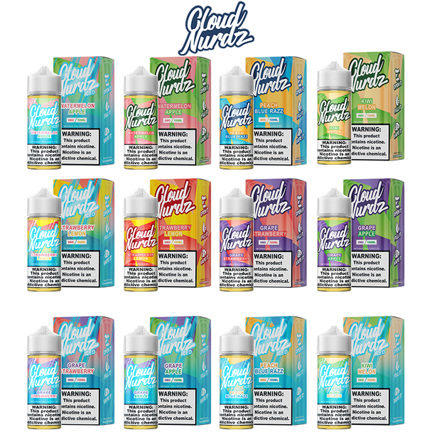 Cloud Nurdz E-Liquid | 100 ML | All Flavors | Wholesale