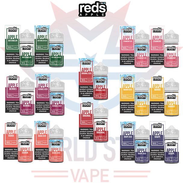 7 DAZE REDS E-LIQUIDS   60 ML   ALL FLAVORS   WHOLESALE