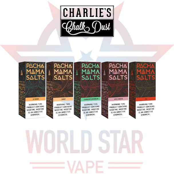PACHAMAMA SALTS BY CHARLIE'S CHALK DUST   30 ML   ALL FLAVORS   WHOLESALE