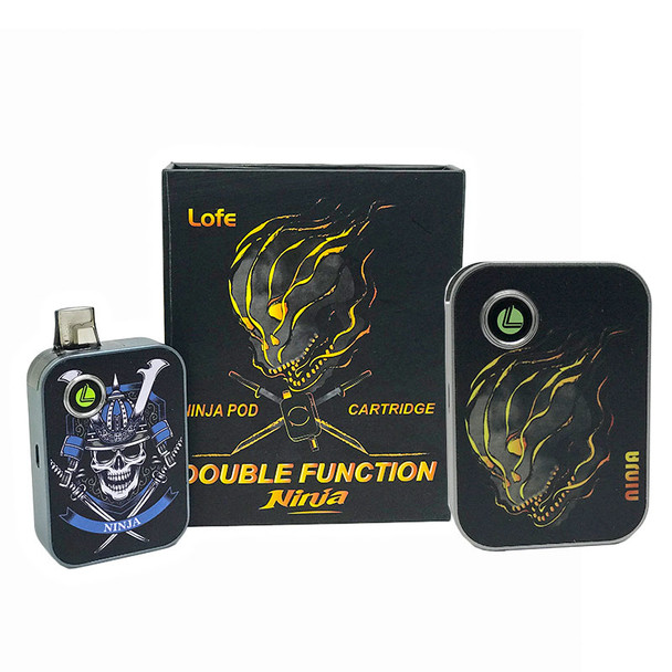 NINJA DOUBLE FUNCTION SYSTEM BY LOFE | REFILLABLE POD + CARTRIDGE