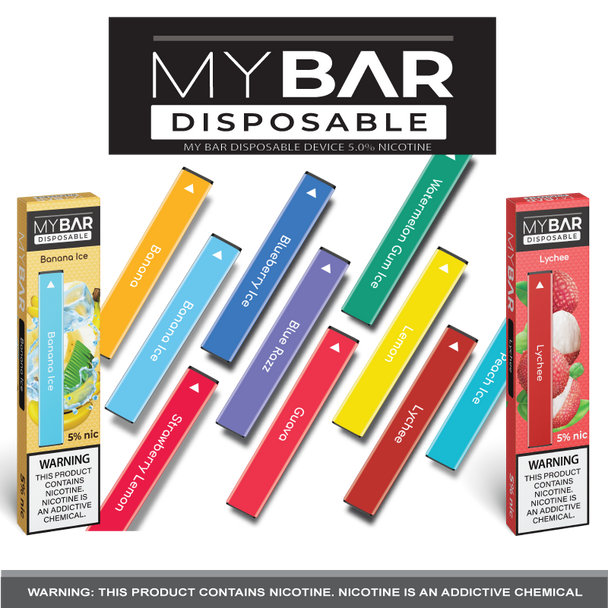 MY BAR DISPOSABLE DEVICE | 5% NICOTINE | WHOLESALE