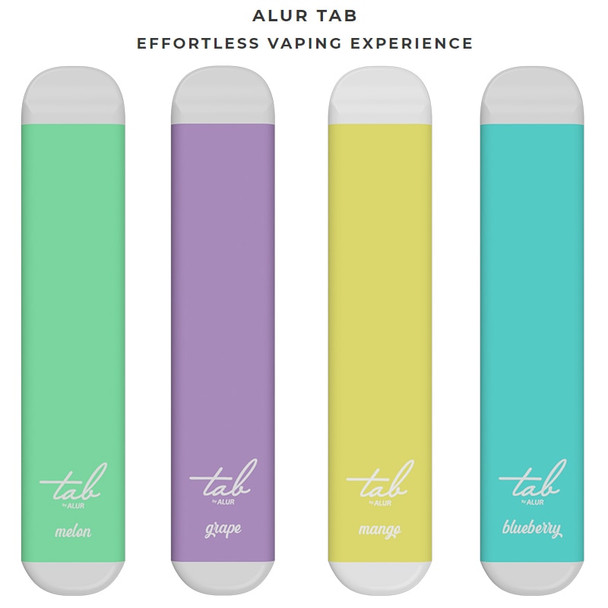ALUR TAB DISPOSABLE DEVICE | 4 FLAVORS | 5% NICOTINE | 400+ PUFFS | WHOLESALE