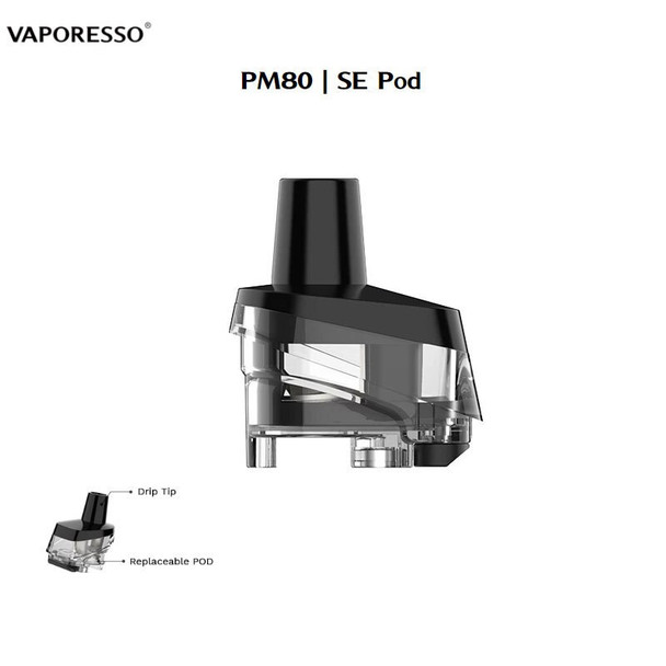 VAPORESSO TARGET PM80 4ML REPLACEMENT PODS | PACK OF 2 (NO COILS INCLUDED)