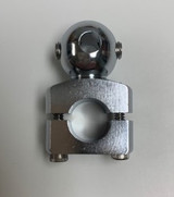 Nickel Plated Ax Clamp machined to fit the curve of the lower bell brace for a firm hold