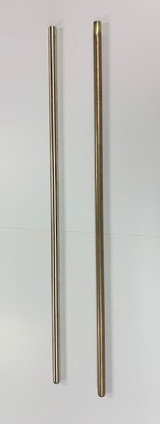 "Shows Brass Inner and Nickel Outer Bass Trombone Slide Tubes  30"" Lengths"