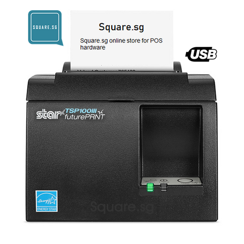 "Star Micronics, TSP100, USB, 3"" Thermal receipt printer, Square.sg"