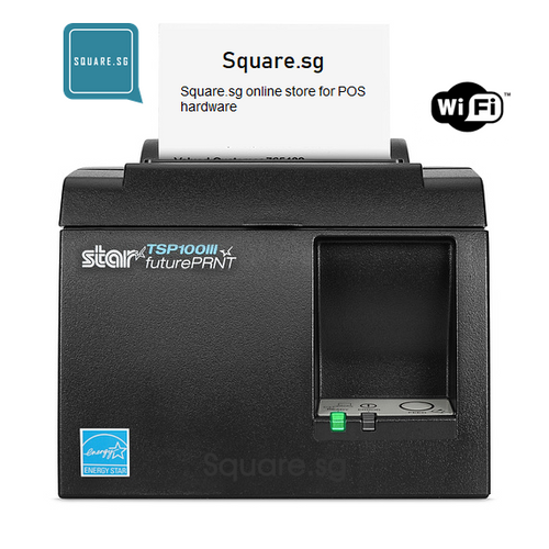 "Star Micronics, TSP100, WiFi, 3"" Thermal receipt printer, Square.sg"