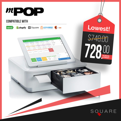 Star Micronics mPOP integrated cash drawer for POS system. Buy from Square.sg.