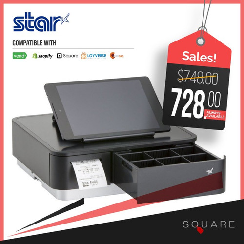 Star mPOP Integrated Printer & Cash drawer (Black)