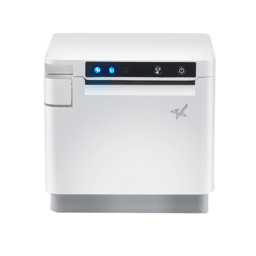 "Star Micronics, mC-Print3, White, 3"" thermal receipt printer, USB, LAN, WiFi, CloudPrint, Bluetooth, by Square.sg"