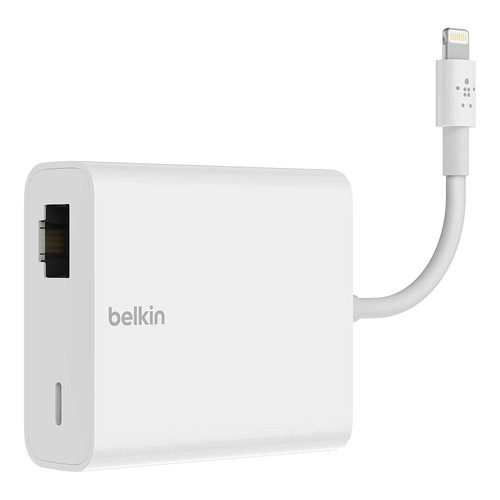 RJ45 and lightning power input, power and data adapter for ipad pos