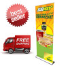 "Ultra Deluxe Stand With FREE Fabric Banner 36""x92"""