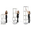 POP-UP Round Twist Tower Display with Shelves & LED Light