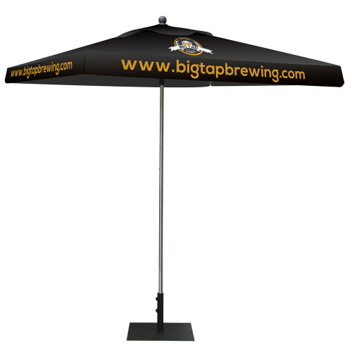Skycap Umbrella - Square Full Color Print (Graphic Package) With Base