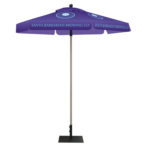 Skycap Umbrella - Hexagon Full Color Print (Graphic Package) With Base