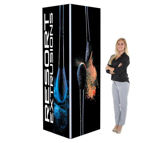 3 Ft. X 3 Ft. X 8 Ft. Big Sky Square Tower Backlit (Graphic Package)