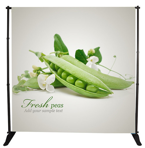 Step and Repeat Backdrop (10'x8' Stand & Fabric Banner)