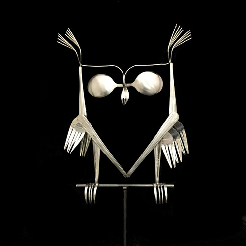 Owl - Fork and Spoon Garden Stake©