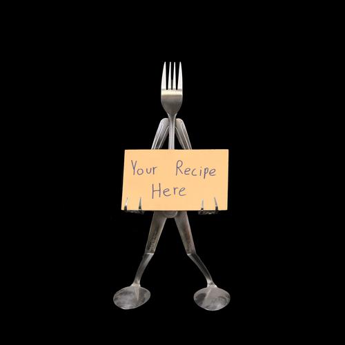 Recipe Card Stand - Fork©