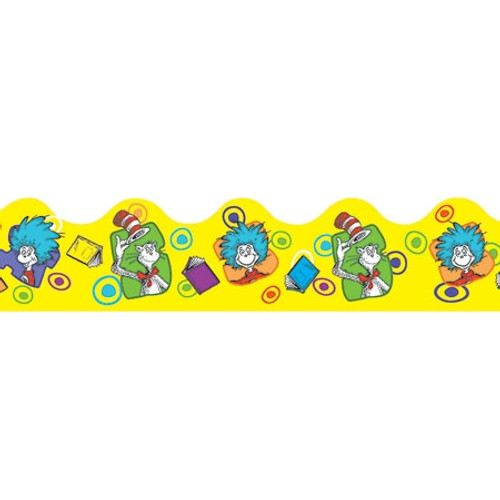 Dr Seuss Yellow Extra Wide Die Cut Decorations Trimmer