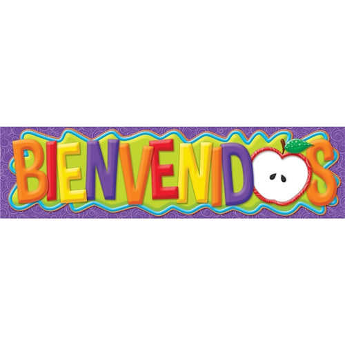 Color My World Spanish Welcome Horizontal Banners - 45 in. x 12 in.
