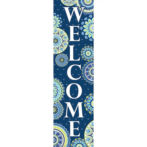 Blue Harmony Welcome Banner - 45 in. x 12 in.