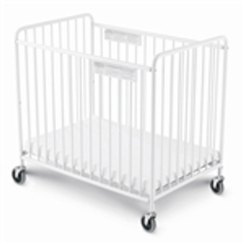 Chelsea Steel Non-Folding Crib Slatted - 4 Inch Casters