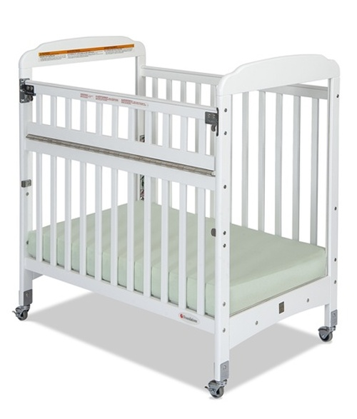 Serenity SafeReach Compact Size Clearview Fixed Side Crib - White