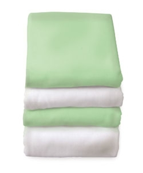 Mint SafeFit Elastic Fitted Safety Crib Sheets w/ 1-4 Inch Mattress 6/cs