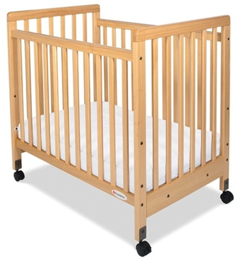 SafetyCraft Slatted Compact Size Fixed Side Crib