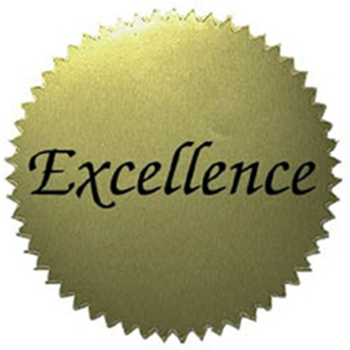 Stickers Gold Excellence 50/Pk 2