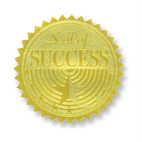Gold Foil Embossed Seals Seal Of Success - 1.75 in.
