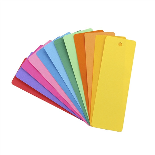 Blank Bookmark Assorted Colors - 2  in. x 6  in.