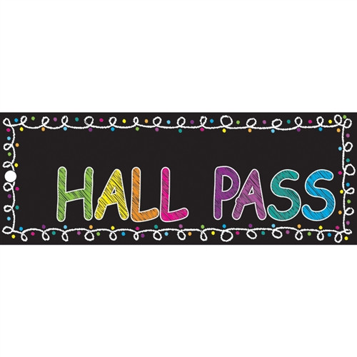 Laminated Chalk Hall Pass - 9 in. x 3.5 in.