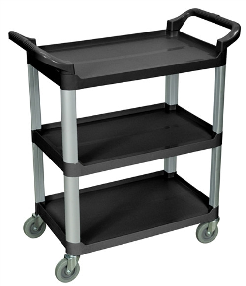 Three Shelves Serving Cart Black - 33.5 in. x 16.75 in. x 36.75 in.