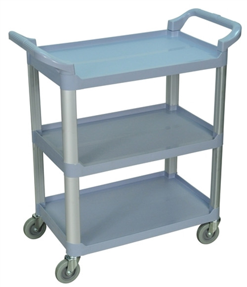 Three Shelves Serving Cart Gray - 33.5 in. x 16.75 in. x 36.75 in.