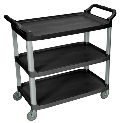 Three Shelves Large Serving Cart Black - 40.5 in. x 19.75 in. x 37.25 in.
