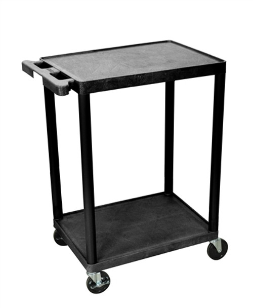 Utility Cart - Two Shelves Structural Foam Plastic - 24 in. x 18 in. x 33.5 in.