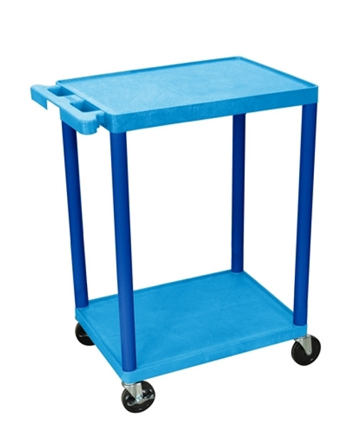 Utility Cart - Two Shelves Structural Foam Plastic Blue - 24 in. x 18 in. x 33.5 in.