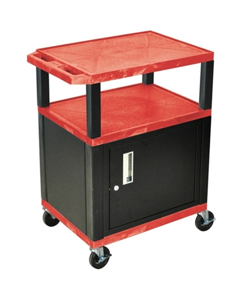 Red Cab With Black Tuffy Cart - 34 in.