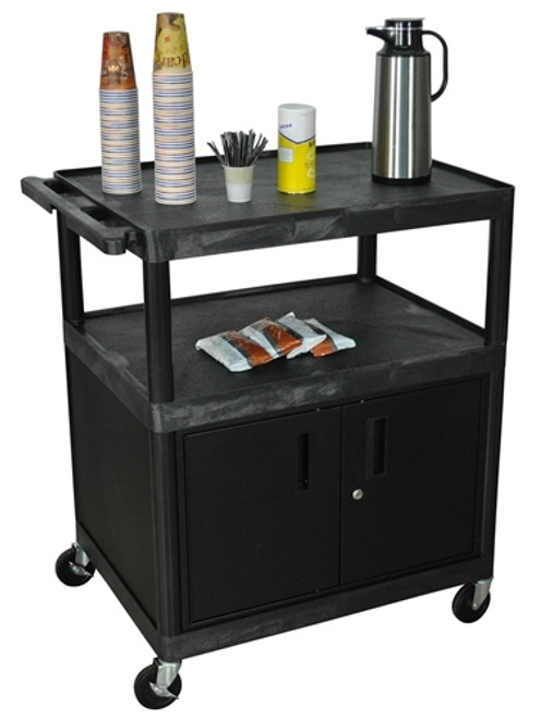 Large Coffee Cabinet Cart - 32 in. x 24 in. x 40.25 in.
