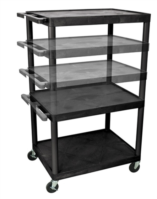 Three Shelves Multi-Height A/V Cart - 32 in. x 24 in.