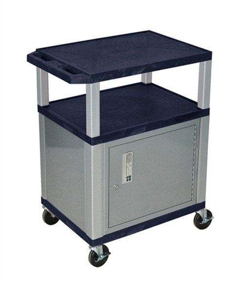 Topaz Tuffy Cart With Cabinet Nickel Legs - 34 in.
