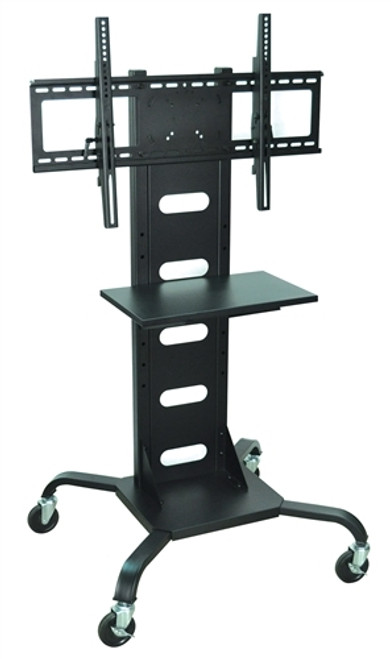 Mobile Flat Panel TV Stand And Mount Black - 31.5 in. x 28 in.
