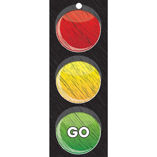 Stop Go Laminated Traffic Light Card - 3.5 in. x 9 in.